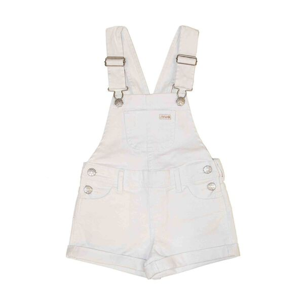 SHORTY DUNGAREE BRIGHT WHITE