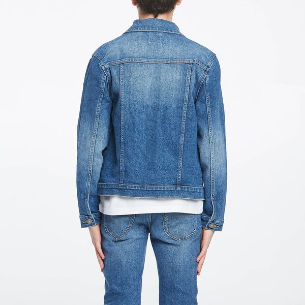 Boys Denim Trucker Jacket Territory Blue, TERRITORY BLUE, hi-res