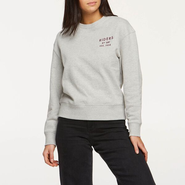 Womens Relaxed Sweat Grey Marle