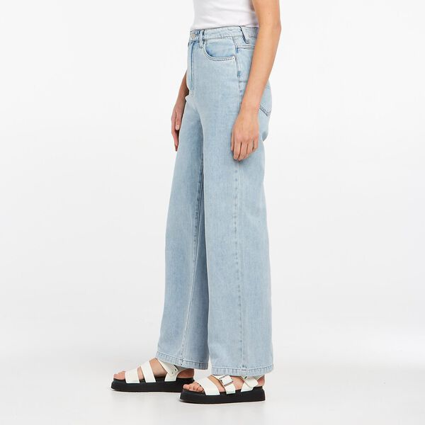 Hi Wide Leg Jean Light Denim, White Wash, hi-res