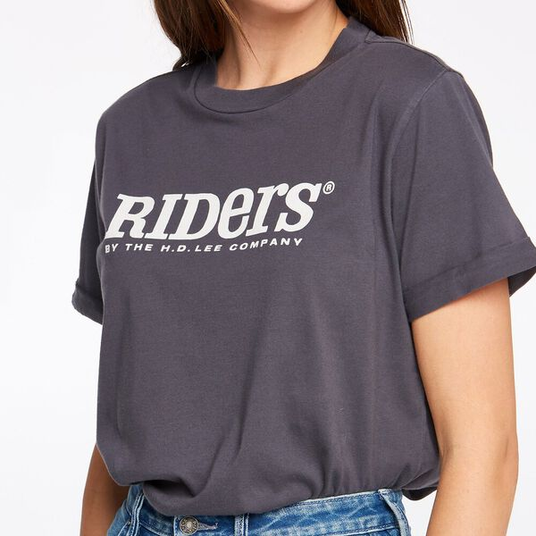 WOMENS RELAXED TEE GRAPHITE, GRAPHITE, hi-res