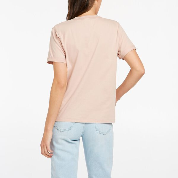 Relaxed Logo Tee, Almost Pink, hi-res