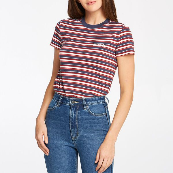 WOMENS SLIM TEE SIERRA STRIPE