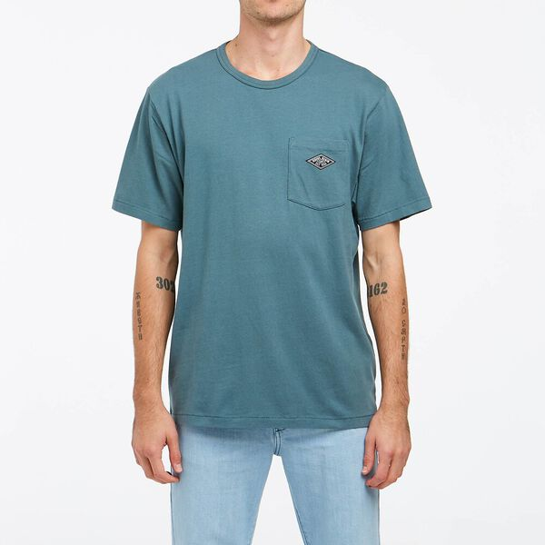 Relaxed Pocket Tee Sea Foam