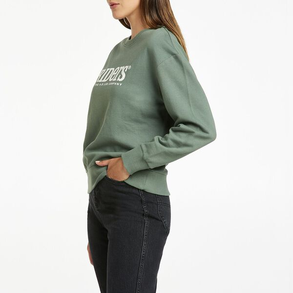 Classic Relaxed Logo Sweat, Dusty Sage, hi-res