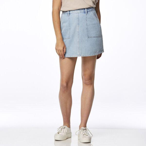 Girlfriend Utility Skirt Iced Blue