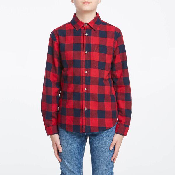 Boys Check Shirt Winter Check