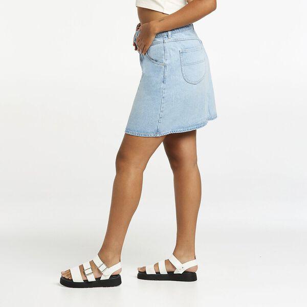 80's Girlfriend A-Line Skirt, Sky Stonewash, hi-res