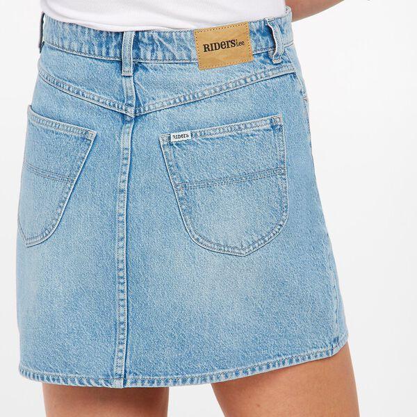 Girlfriend A-line Skirt, Sky Stonewash, hi-res