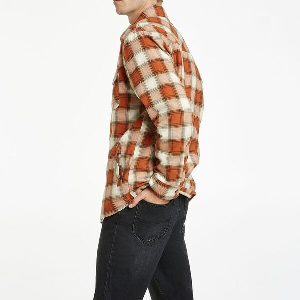 Long sleeve Check Over shirt, Retro Check, hi-res