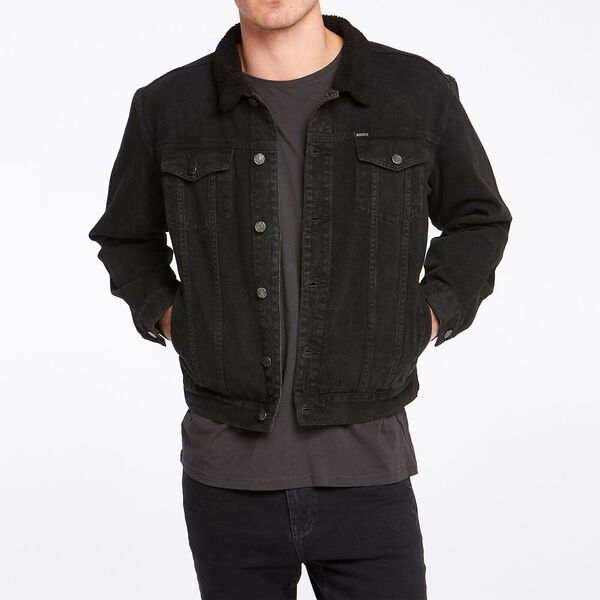 Sherpa Trucker Jacket Stone Black