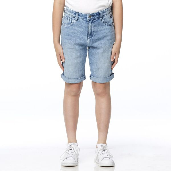 Kick-Back Short Bleached Indigo