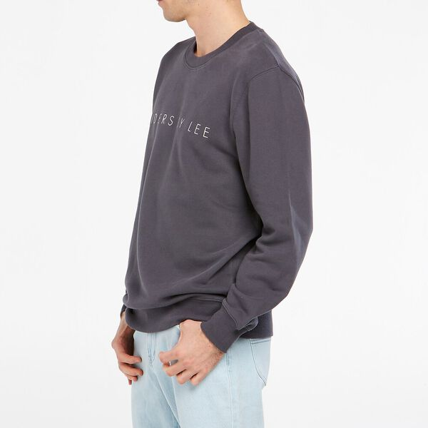 Relaxed Logo Sweater, Graphite, hi-res