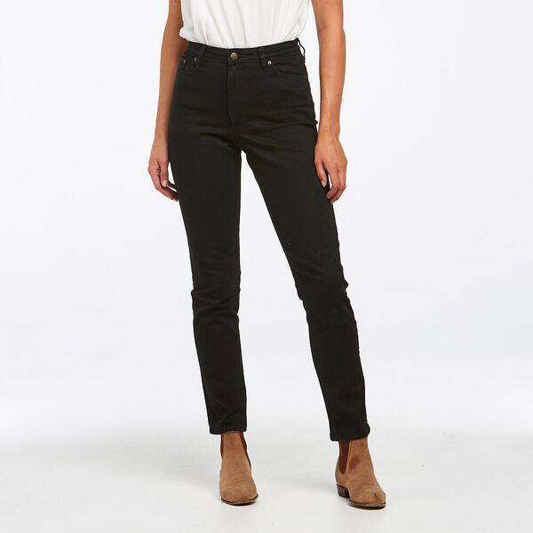 Classic High Slim Flat Black