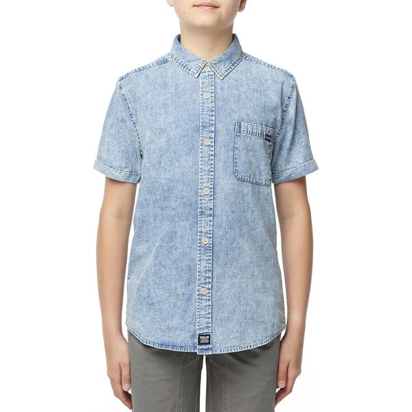 SHORT SLEEVE SHIRT ACID CHAMBRAY
