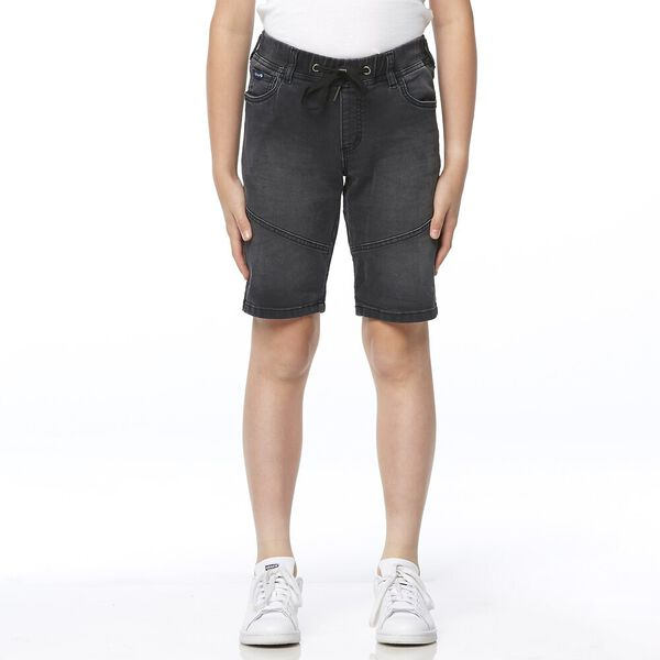 DENIM JOGGER SHORT NERO