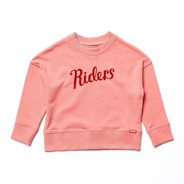 KIDS THE CROP SWEAT BURNT CORAL