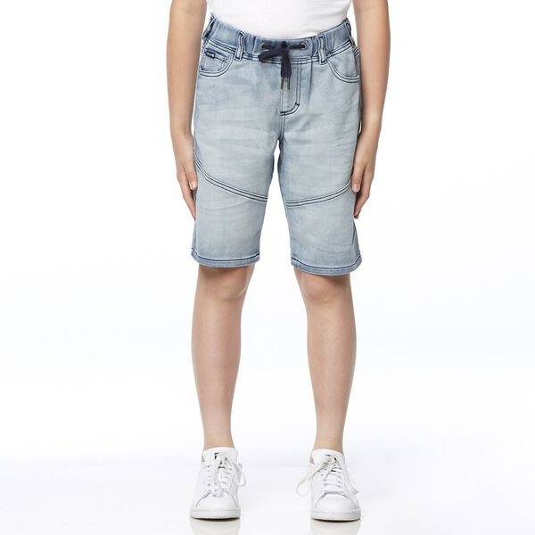 DENIM JOGGER SHORT DUSTY INDIGO