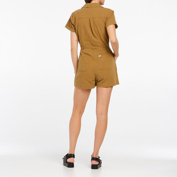 Resort Relaxed Romper, Toffee, hi-res