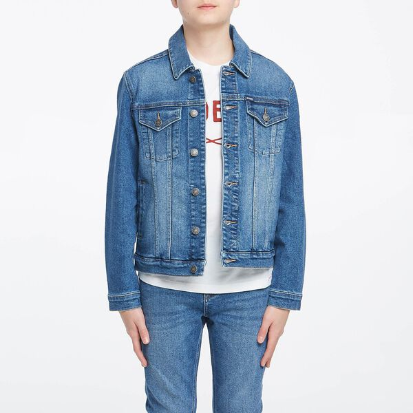 BOYS DENIM TRUCKER JACKET TERRITORY BLUE