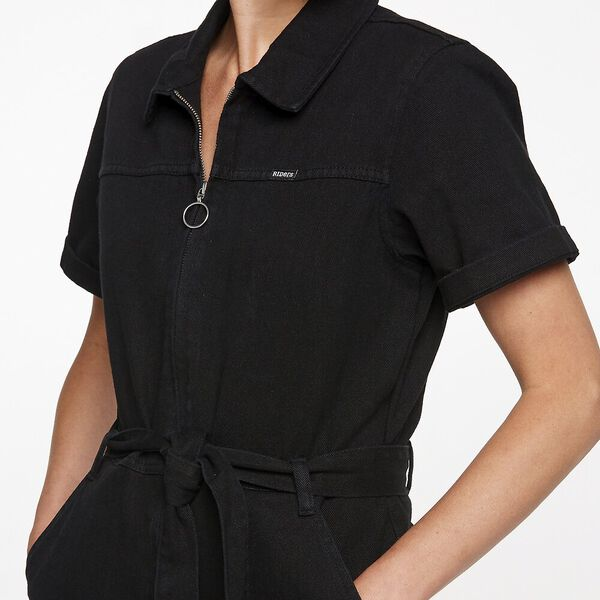 Zip Through Coverall Carbon Black, Carbon Black, hi-res