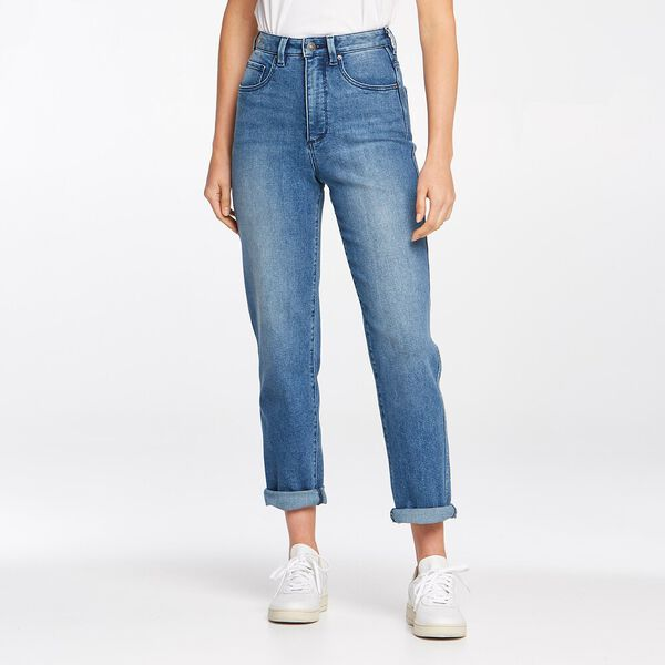 Hi Mom Curve Jean Midtown Blue