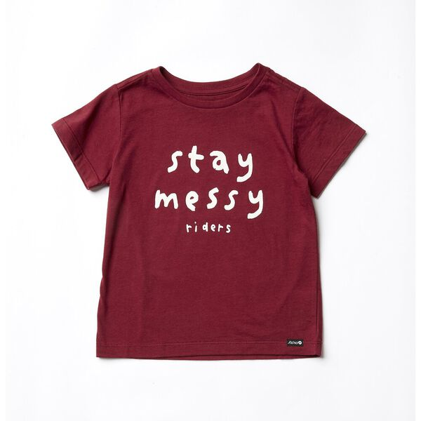 THE SS TEE_STAY MESSY GARNET