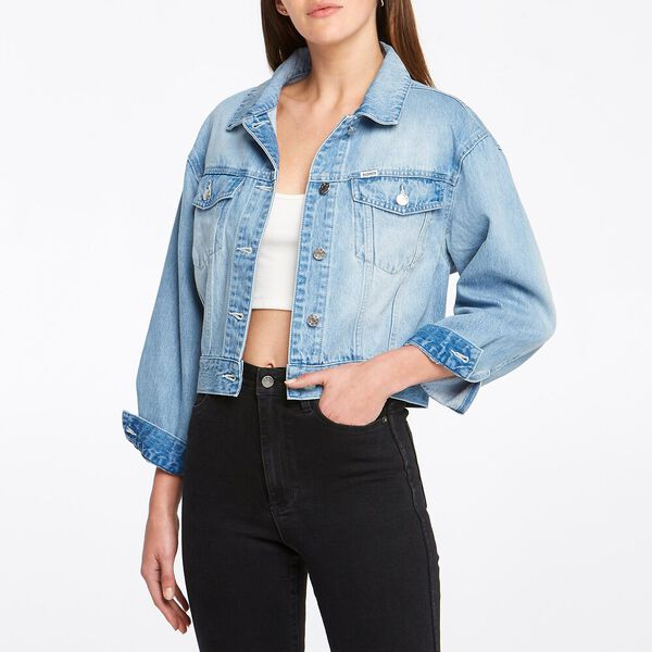 Cindy Cropped Jacket Acadia Bleach
